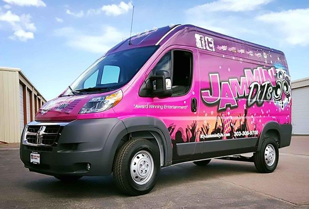 Custom Vehicle Wrap on Van